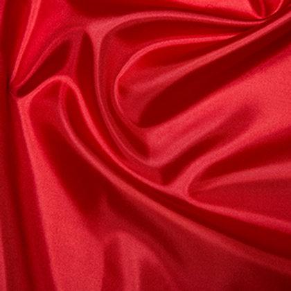 Habatai 100 % Polyester Fabric - 145cm Red