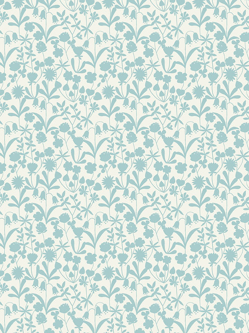 Bluebell Wood - Duckegg floral