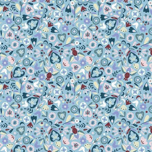 Scattered Botanicals BLUE- Turtle Cove- CDS for Camelot