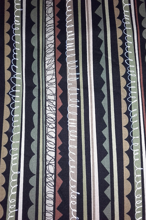 Benartex - Jigsaw Stripe CF6375