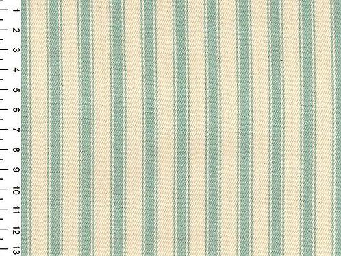 100% Cotton Canvas Ticking Stripe - 150cm Wide - Duck Egg JLC0118