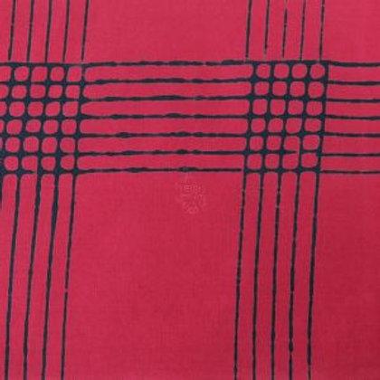 Andover Alison Glass - Chroma - Plaid - E2 Strawberry
