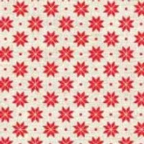 1789-R2 Scandi B Snowflake Red on Cream