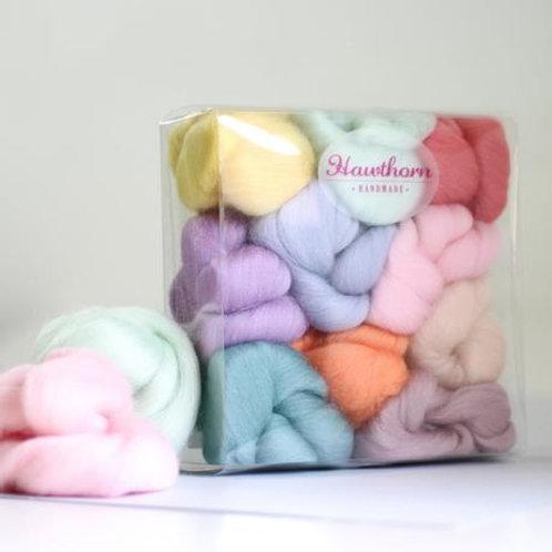 Pastels Wool Bundle Felting