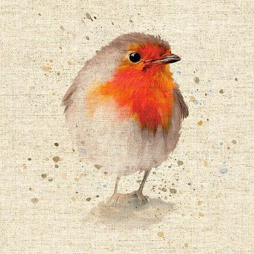 Robin panel- Pop Art Linen