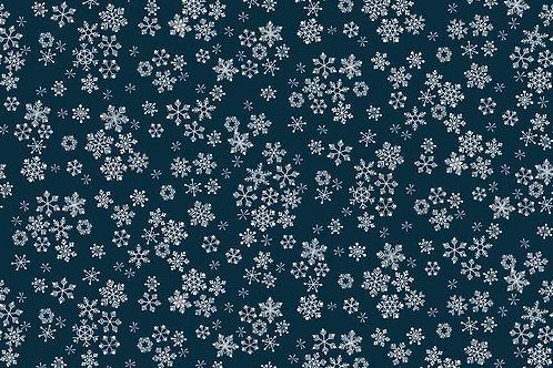 Xmas Frosty - 1585-B9 Blue Snowflakes