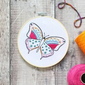 Butterfly Contemporary Embroidery Kit