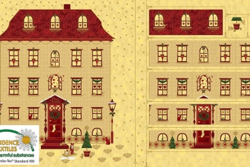 4595-287 Magic Christmas Stof -Advent calendar  House