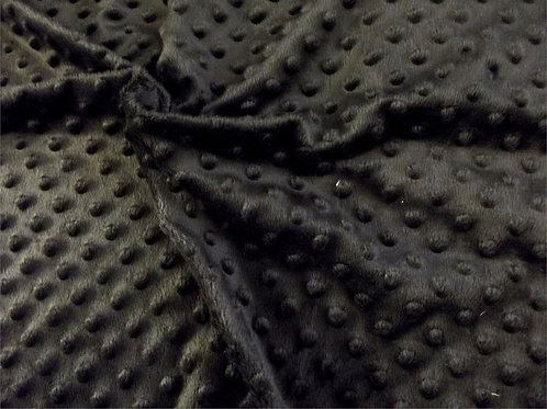 CRS Fabrics - Dimple Black - Minky Fleece