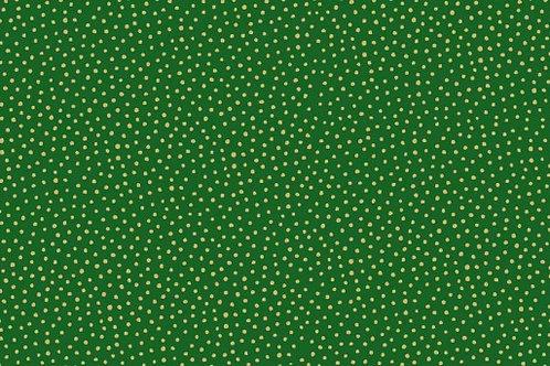 Makower Metallic Spot Green
