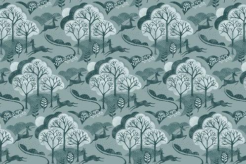 Makower - Into the Woods - Tree Blue