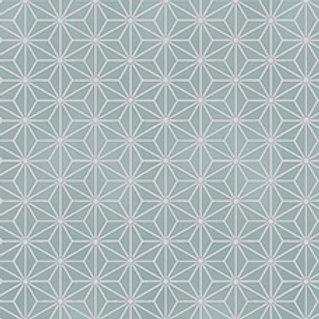 4592-908 Glimmering Silver Geometric Stars