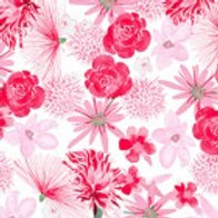 Clothworks - Baby Gone Wild Pink Floral