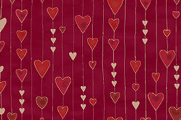 4592-407 Glimmering Red/Gold hearts