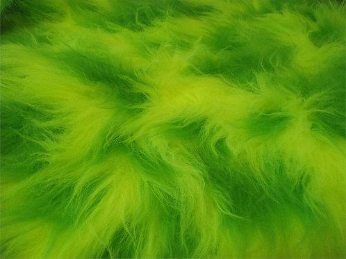 CRS Fabrics - Faux Fur - LIME AC356P