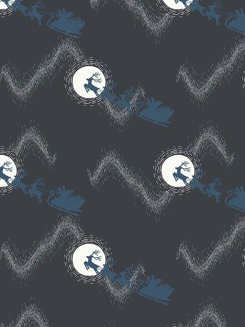 LI Northern Lights-Santas sleigh on midnight