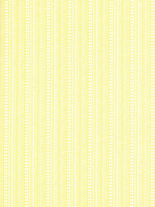 Fabric Freedom - Scandi Flora - Leaves Yellow FF320/2