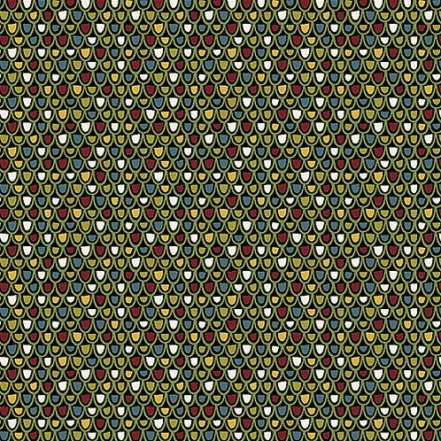 Jolly Penguin 10046-12 Festive Texture Black/multi