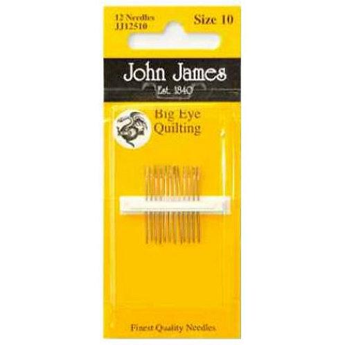 John James - Big Eye Quilting - 12 Needles Size 10