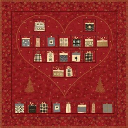 4594-478 Magic Christmas Stof -Advent calendar  Red Heart