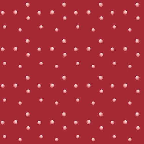 4496-406 Silent Christmas Red/white spot