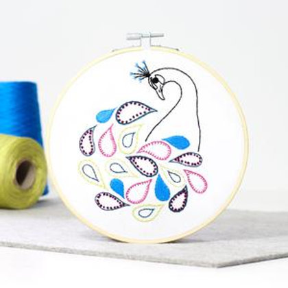 Peacock Contemporary Embroidery Kit