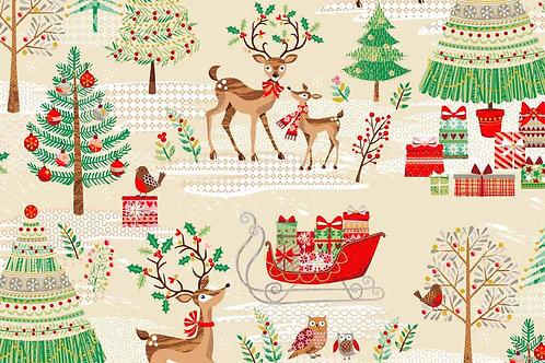 1790-1 Scenic Reindeer Metallic