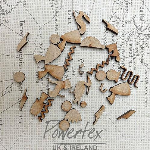 Powertex - MDF - Mini Hieroglyphs