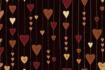 4592-911 Glimmering Black/Copper Hearts