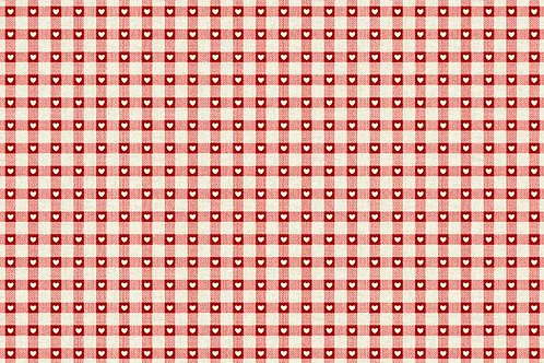 Makower Scandi Basics -Check Red