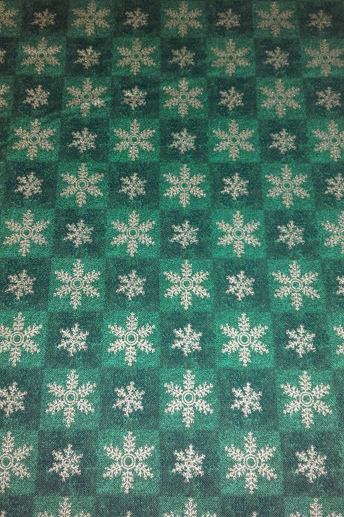 Fabri-Quilt - Seasons Greetings Green 103916