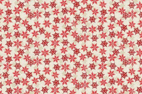 Makower Scandi - Snowflakes - Red 1968/R