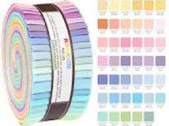 "KONA solids Pastel design roll RU-230-41 2.5"" x 40 strips"