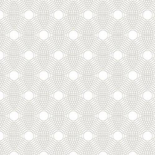 Makower - TN - Ripples - White - 29006L