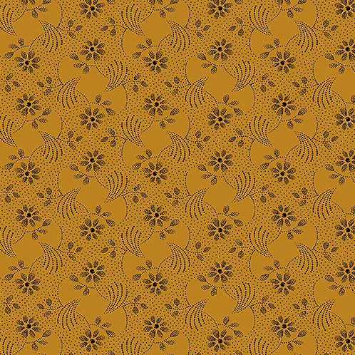 Andover - Marmalade - Floral Orange - 8540O