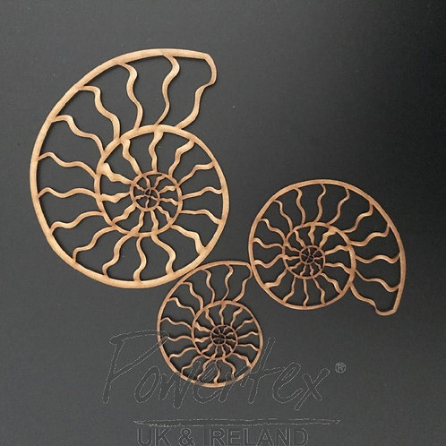 Powertex - MDF -Ammonite Set of Three