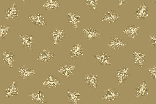 Makower Riviera Rose - Bee Tan 2/9084N