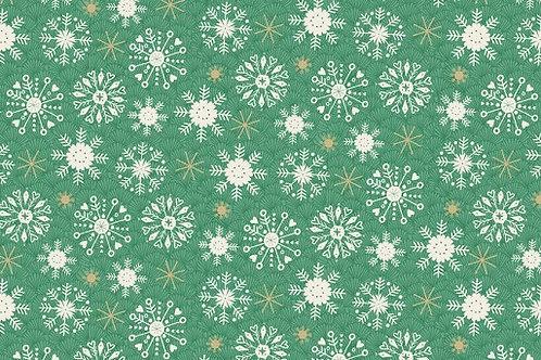 Merry Snowflakes Green 2115-G
