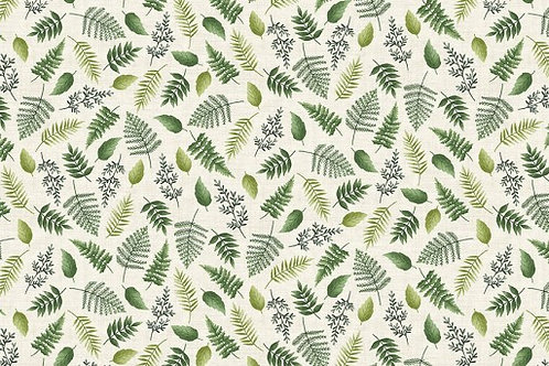 Makower Fern Garden Leaf Scatter Cream 2077/Q