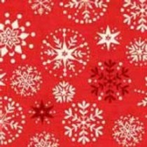 1787-R Scandi Snowflakes Red