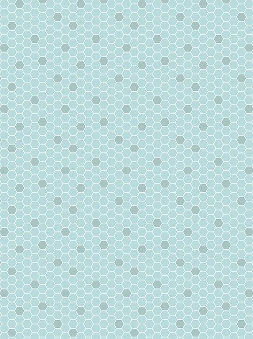 Lewis and Irene - Bee Kind - Blue Honeycomb A282.1