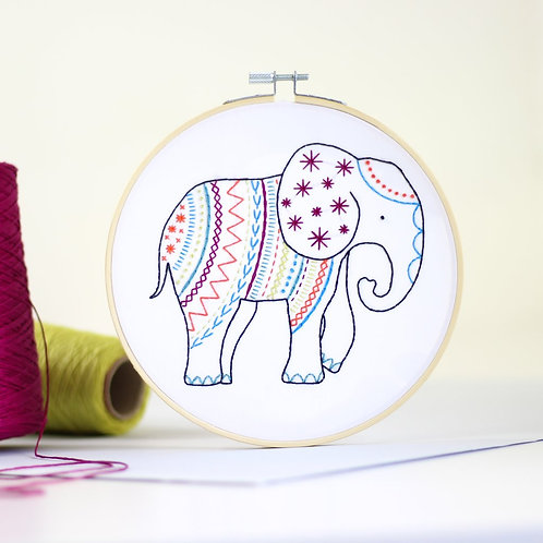 Elephant Contemporary Embroidery Kit