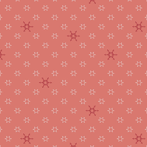 4496-405 Silent Christmas Red/Natural Stars