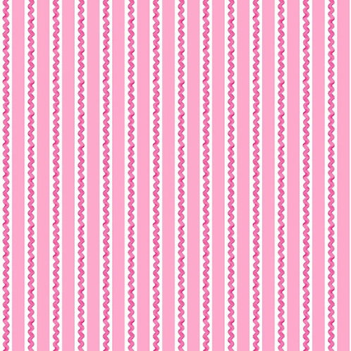 Henry Glass Ric Rac Flannel -Pink Stripe