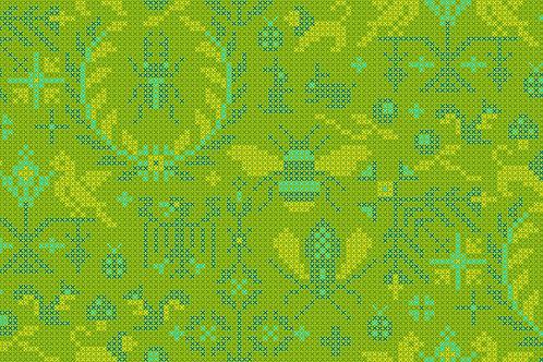 Sun Prints 2020 -Menagerie Lichen 9387G