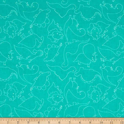 Dino-Mite by Blend - Fossils Turquoise 101149022