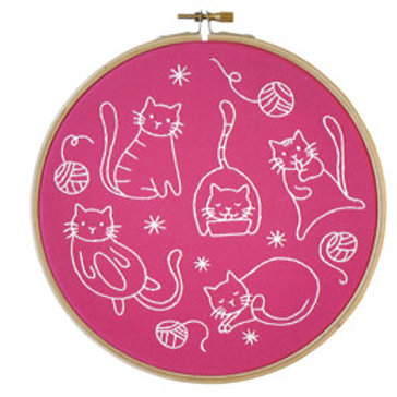 Crafty Cats Contemporary Embroidery Kit