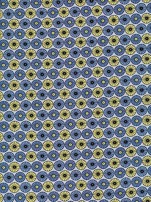 Fabric Freedom - Scandi Flora - Circle Grey FF322/2