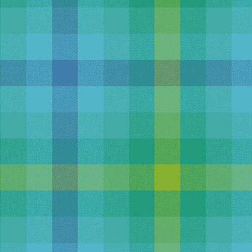 9541 Teal - Kaleidoscope Stripes and Plaids