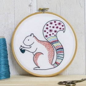 Squirrel Contemporary Embroidery Kit